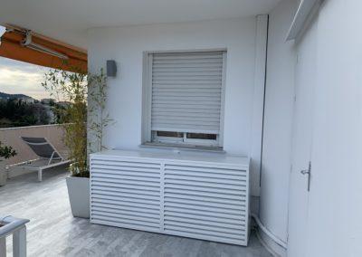 cache climatiseur en aluminium